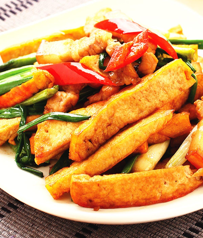 食譜:五花肉炒豆干(1)