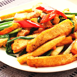五花肉炒豆干(1)