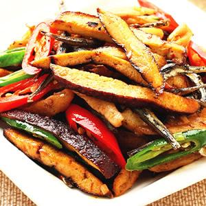 菜脯丁香魚炒豆干