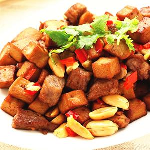 肉丁豆干角