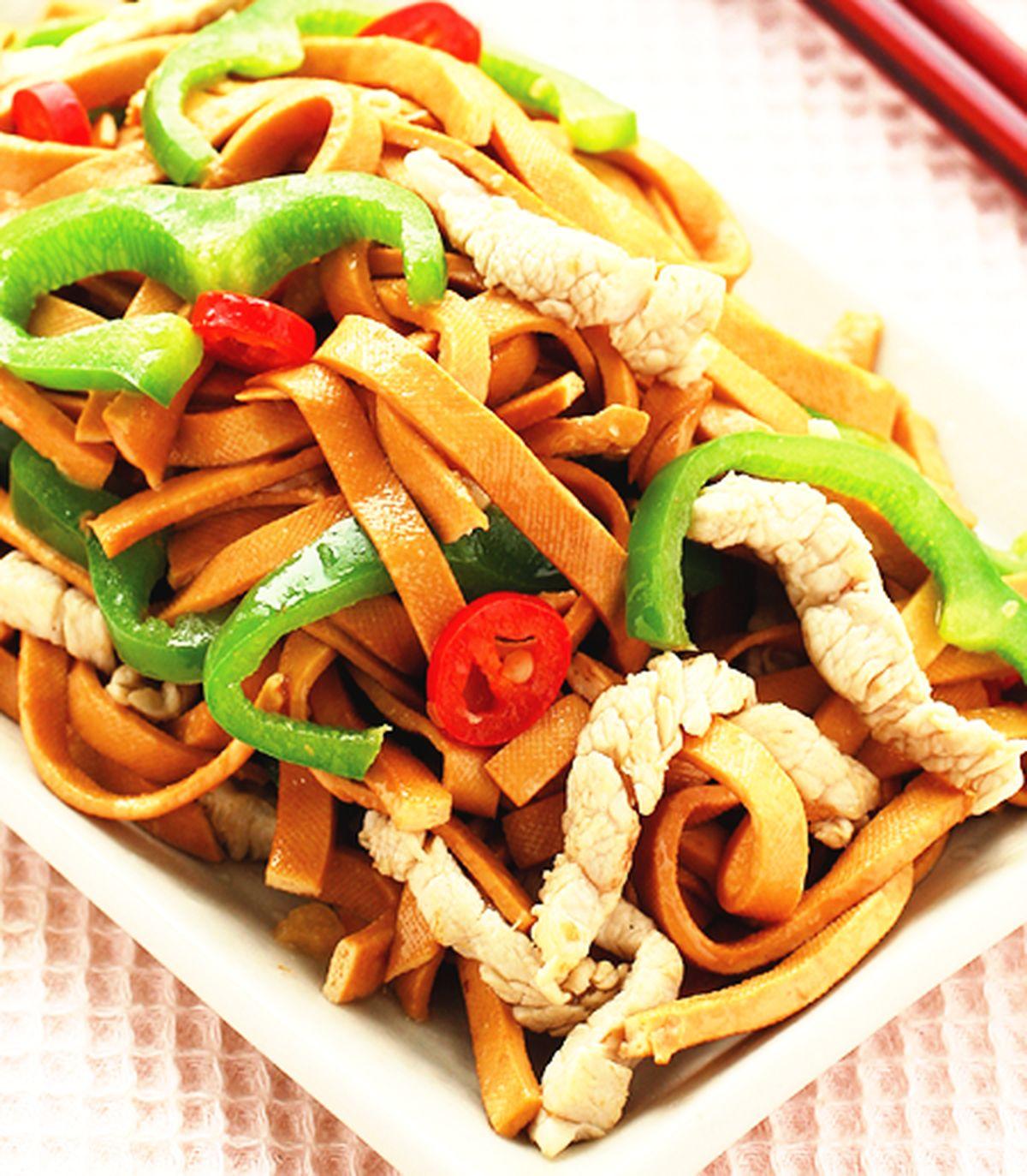 食譜:青椒炒豆干條