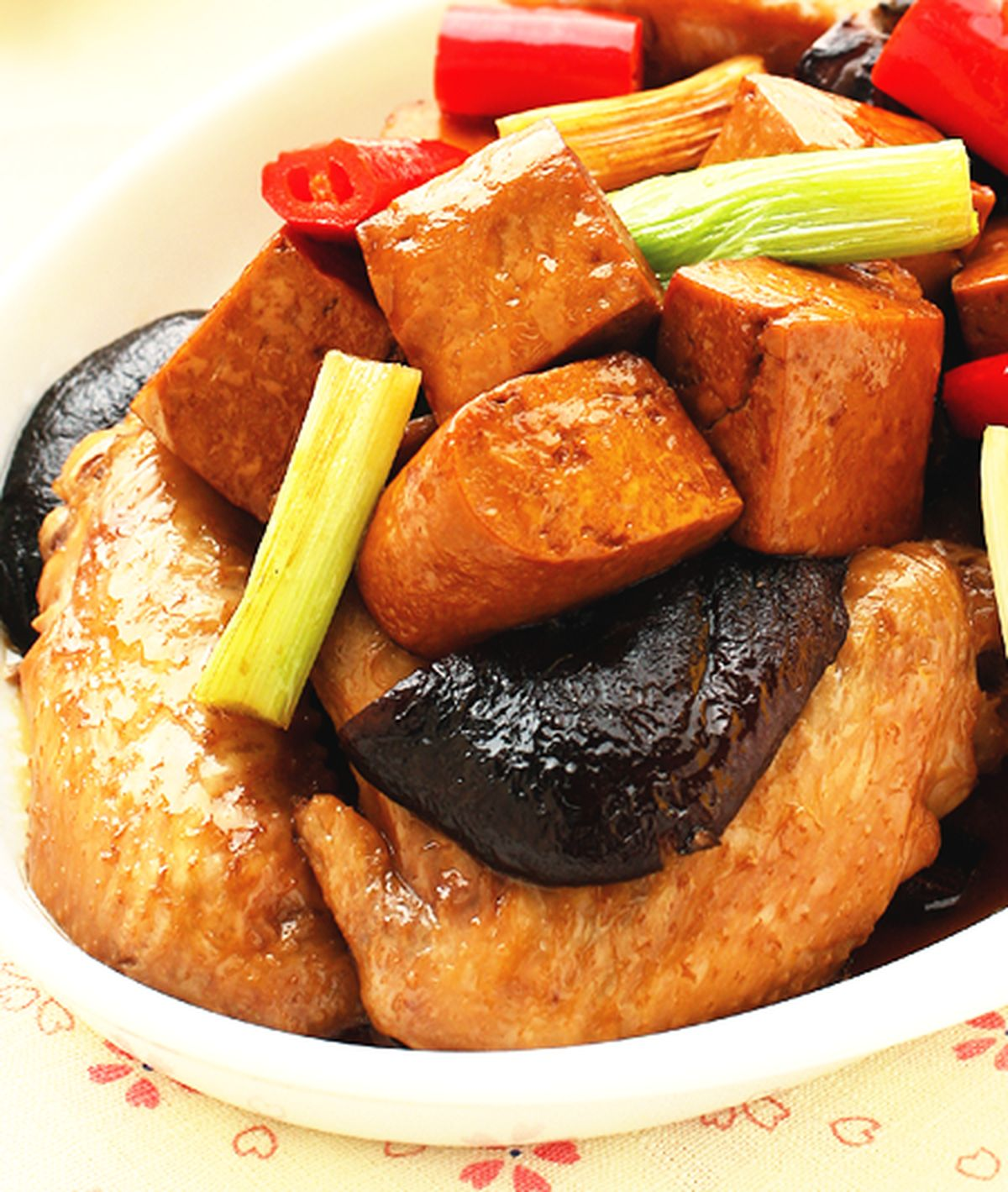 食譜:雞翅燒豆干