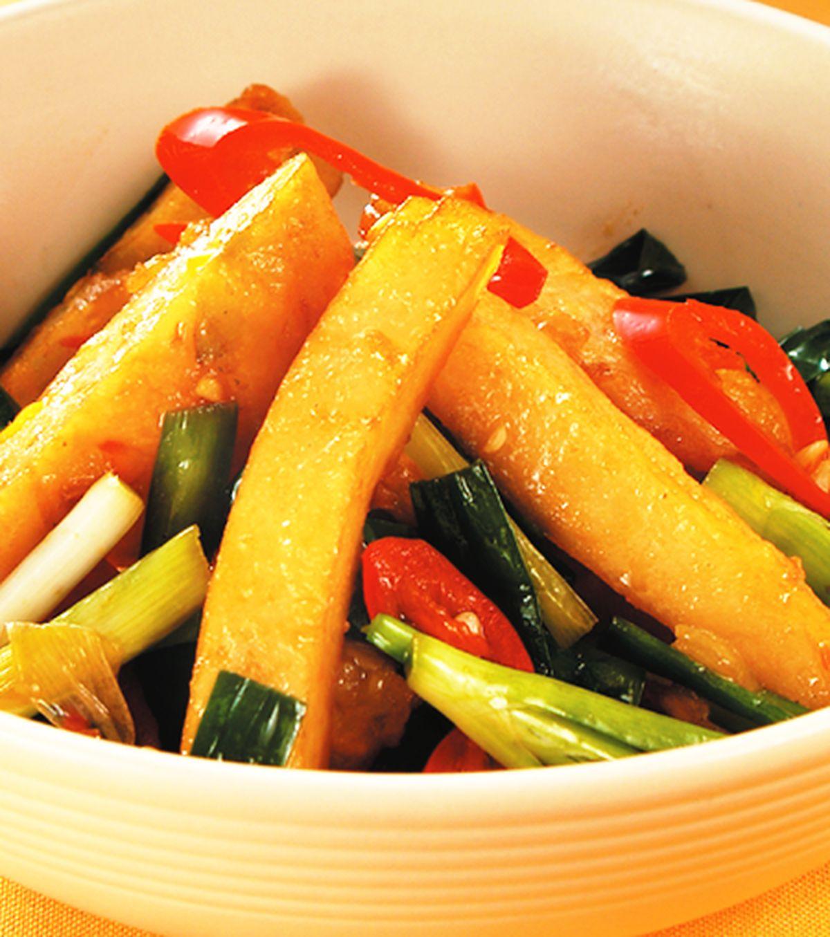 食譜:韭菜炒甜不辣