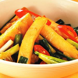 韭菜炒甜不辣