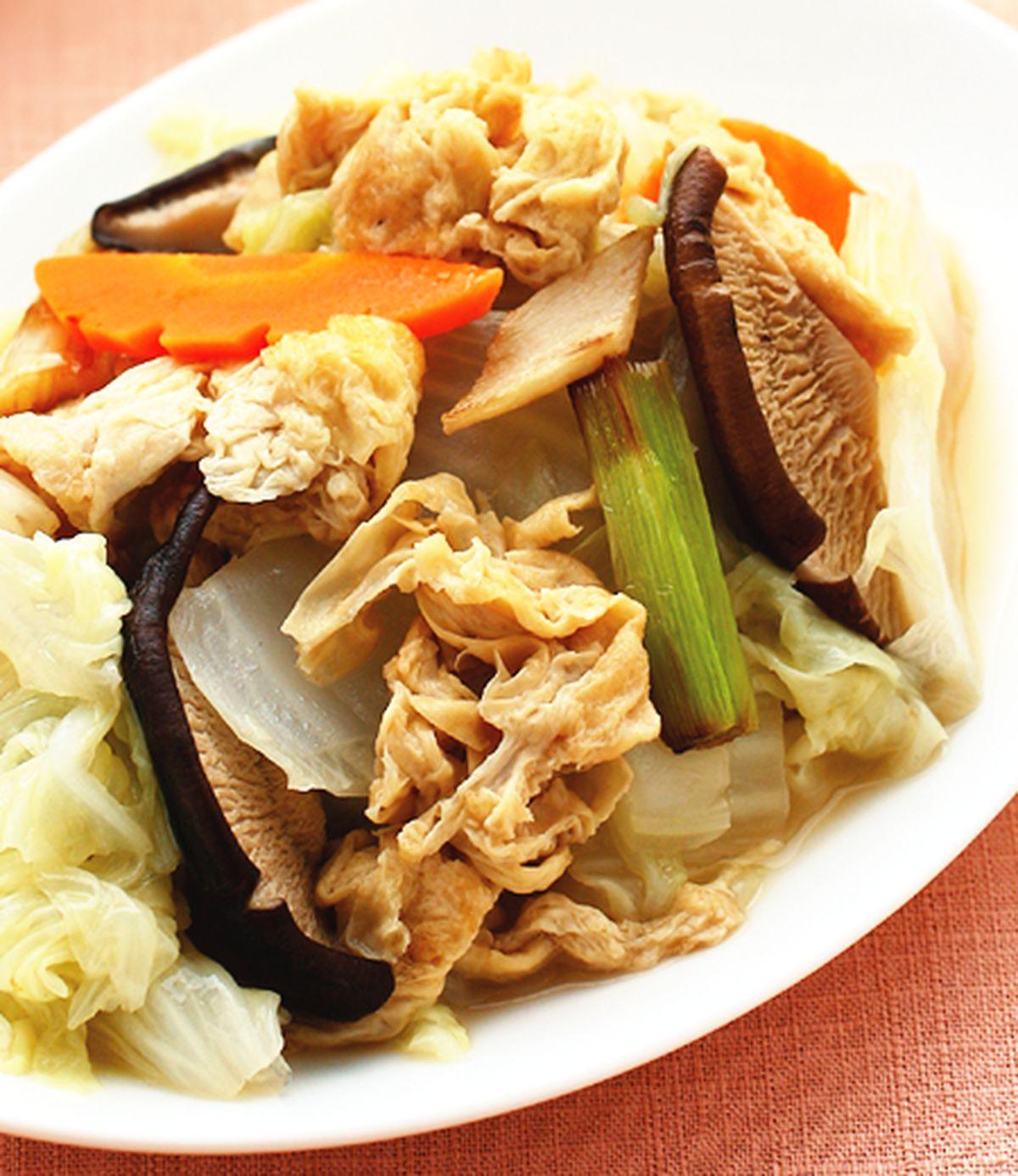 食譜:豆皮炒白菜