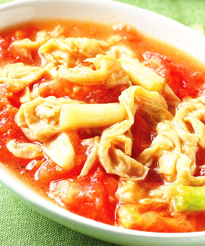 食譜:豆皮炒蕃茄