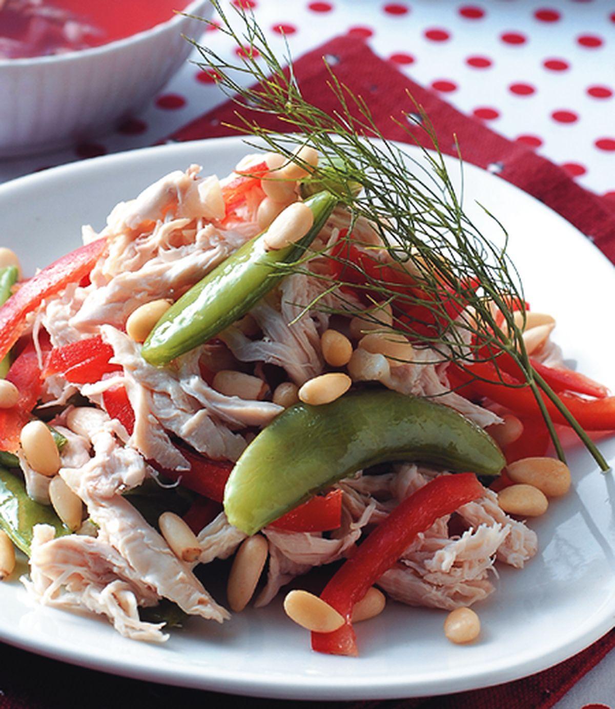 食譜:松子雞絲沙拉