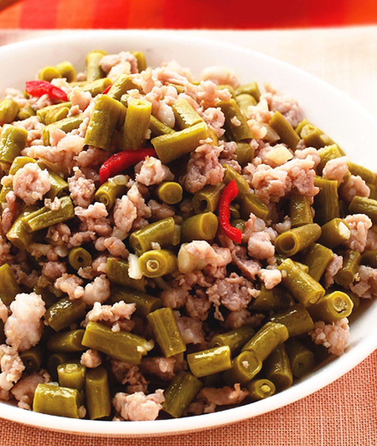 食譜:酸豇豆炒絞肉