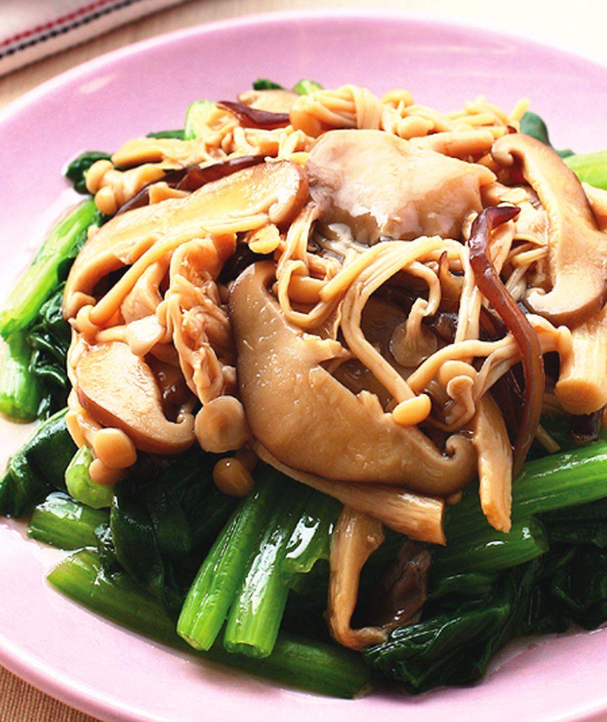 食譜:鮮菇拌青菜