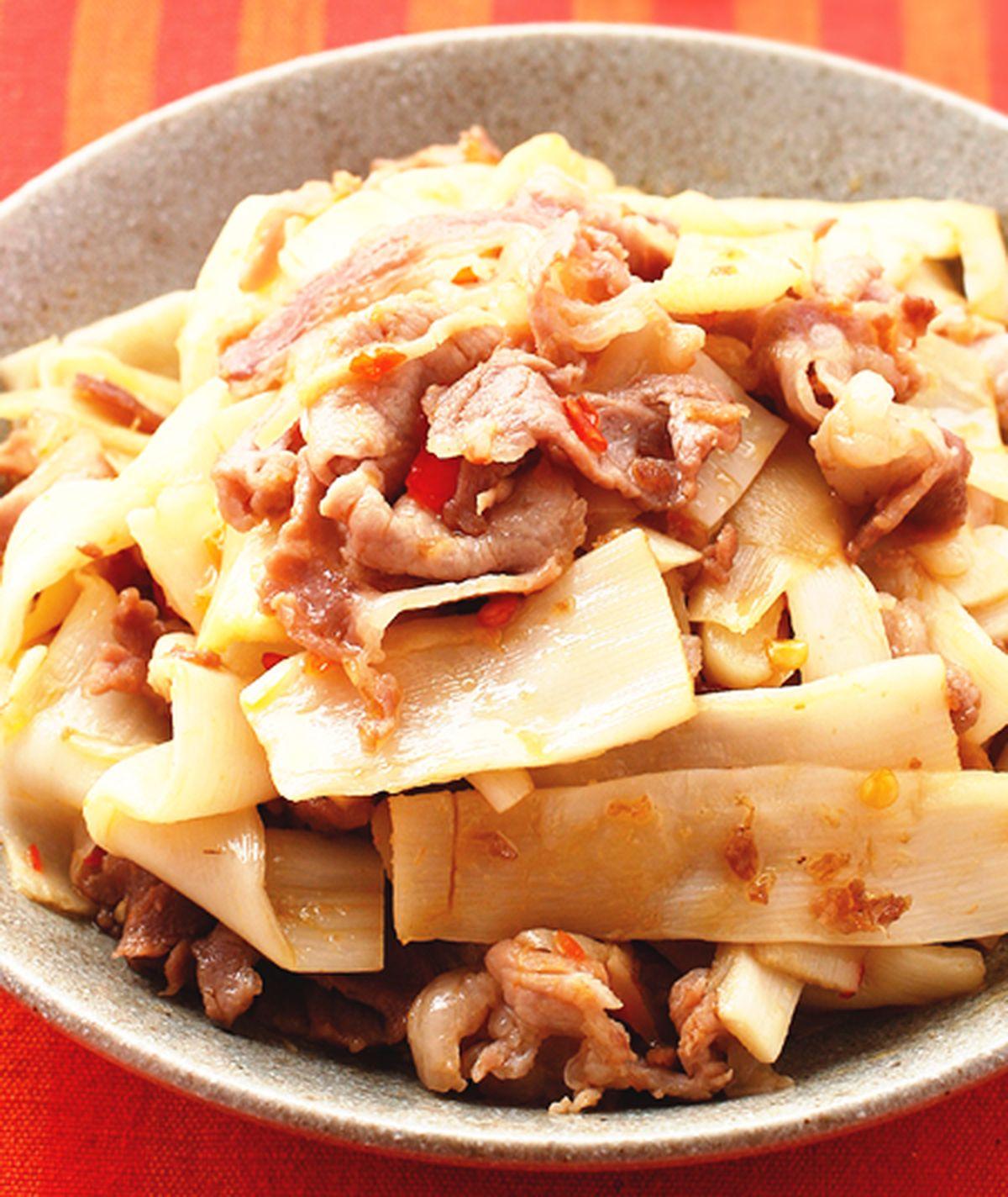 食譜:脆筍炒梅花肉片