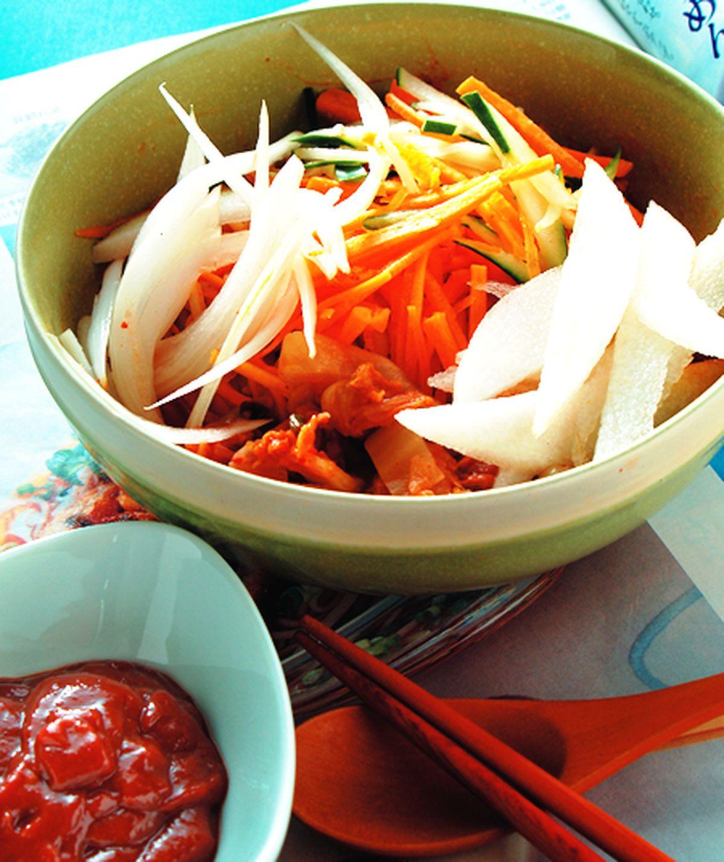 食譜:韓式辣醬涼麵