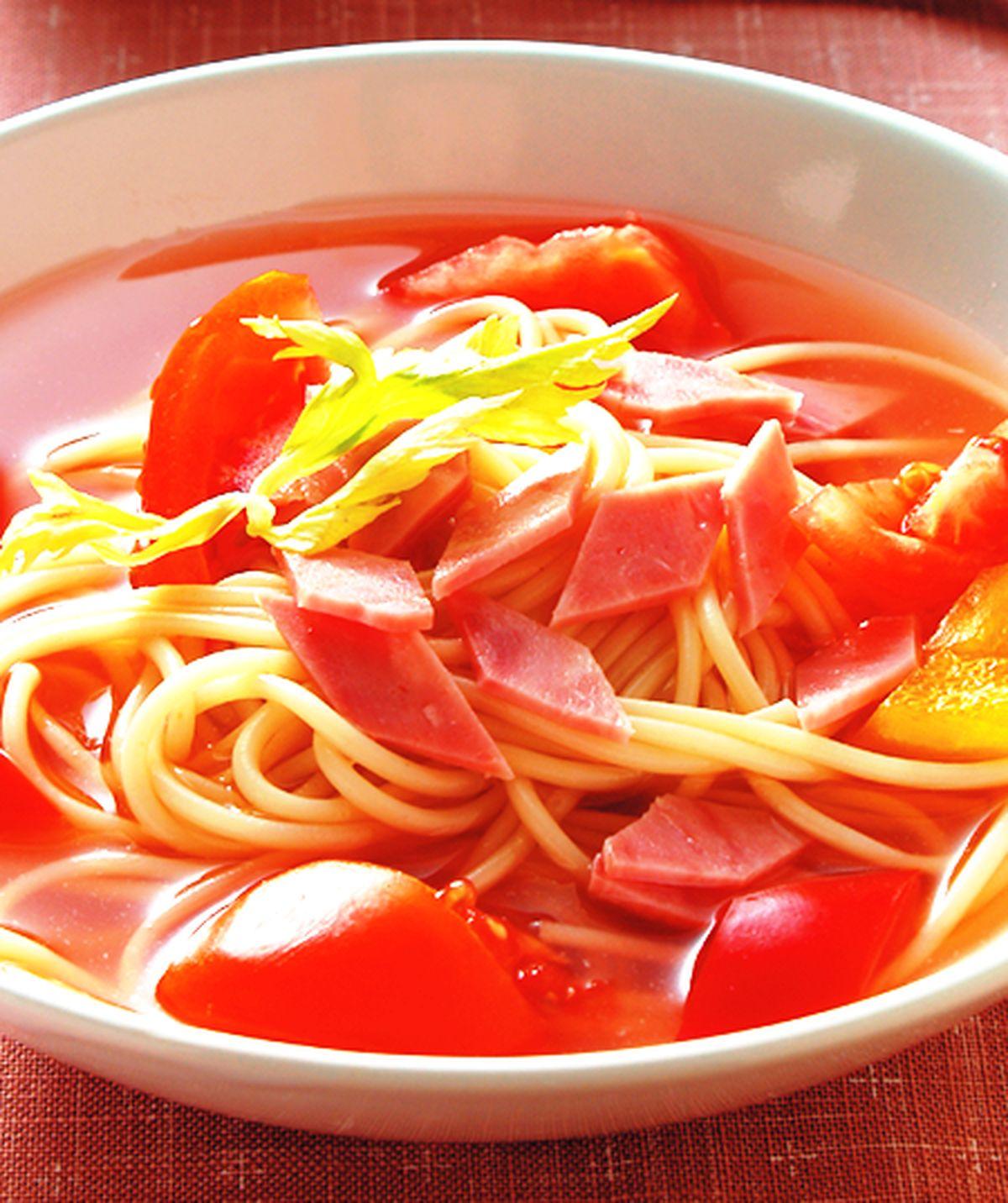 食譜:茄汁冷湯麵