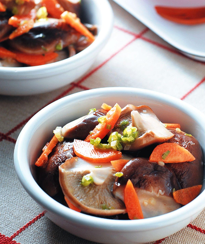食譜:蔥油香菇