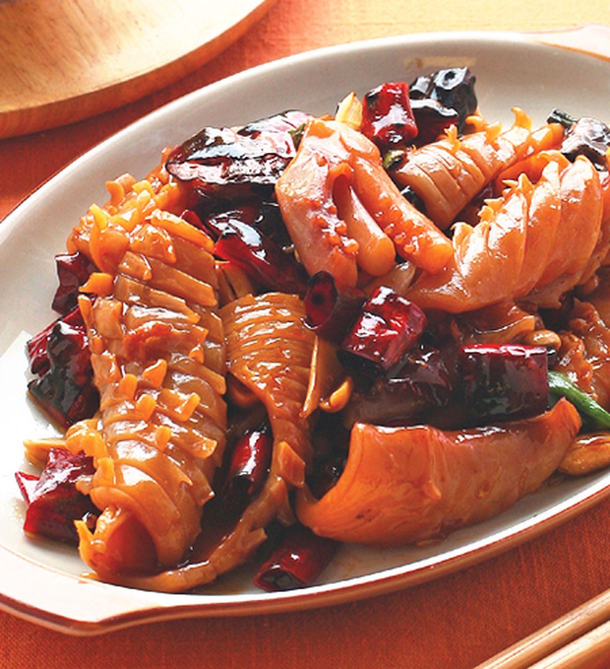 食譜:宮保魷魚(2)