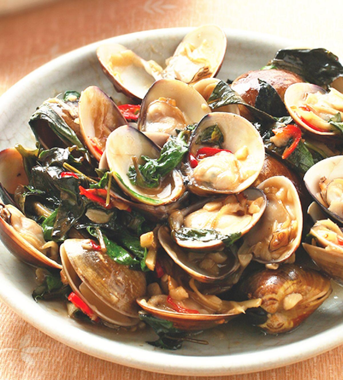 食譜:塔香炒蛤蜊