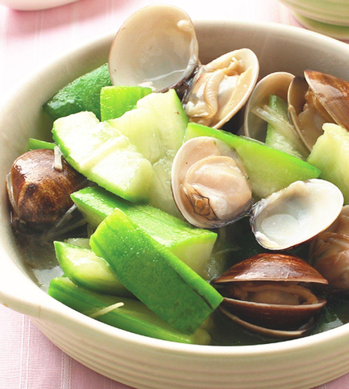 食譜:蛤蜊絲瓜(4)