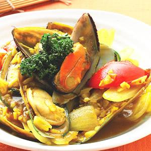咖哩炒孔雀蛤