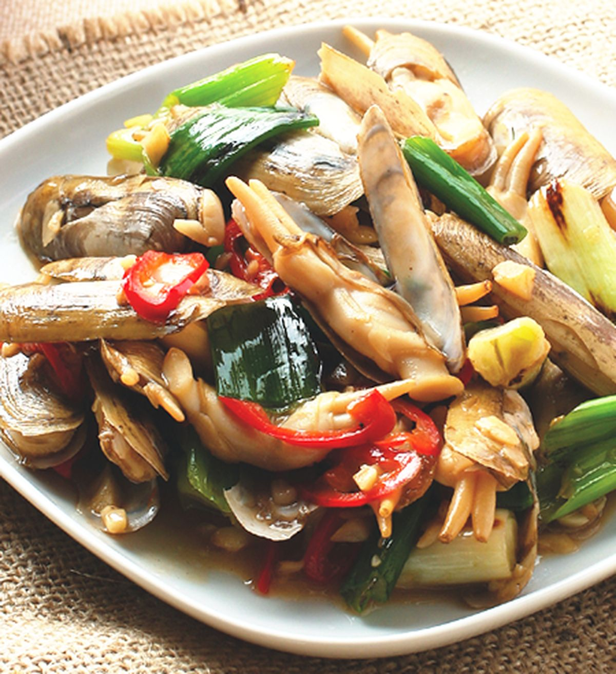 食譜:炒蘆筍貝