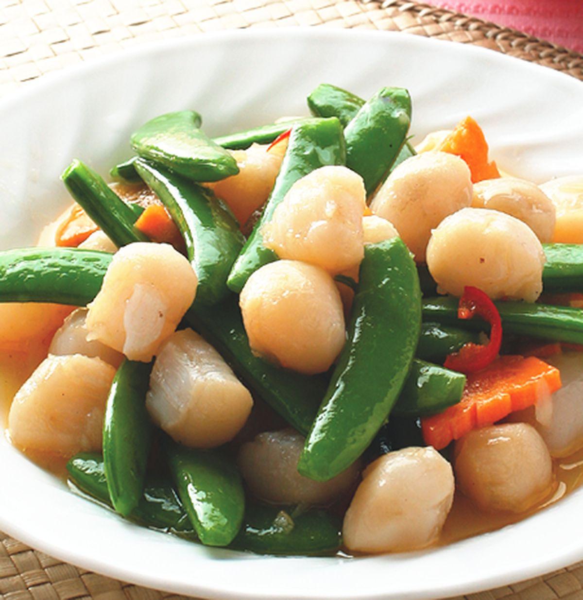 食譜:生炒鮮干貝