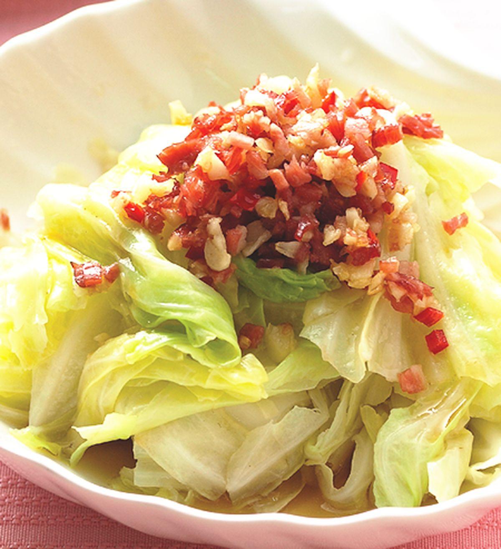 食譜:蒜香高麗菜(1)