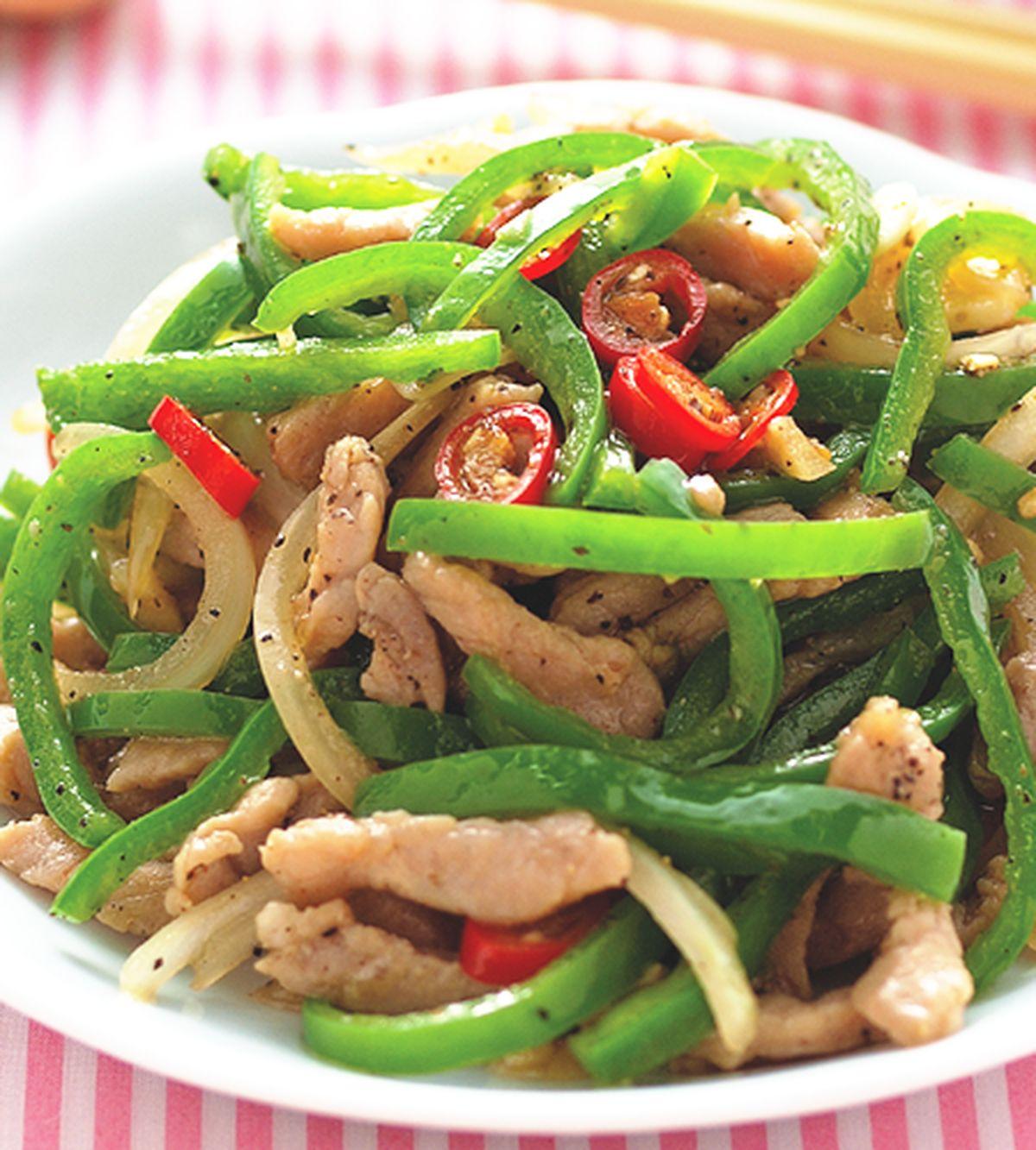 食譜:青椒炒肉絲