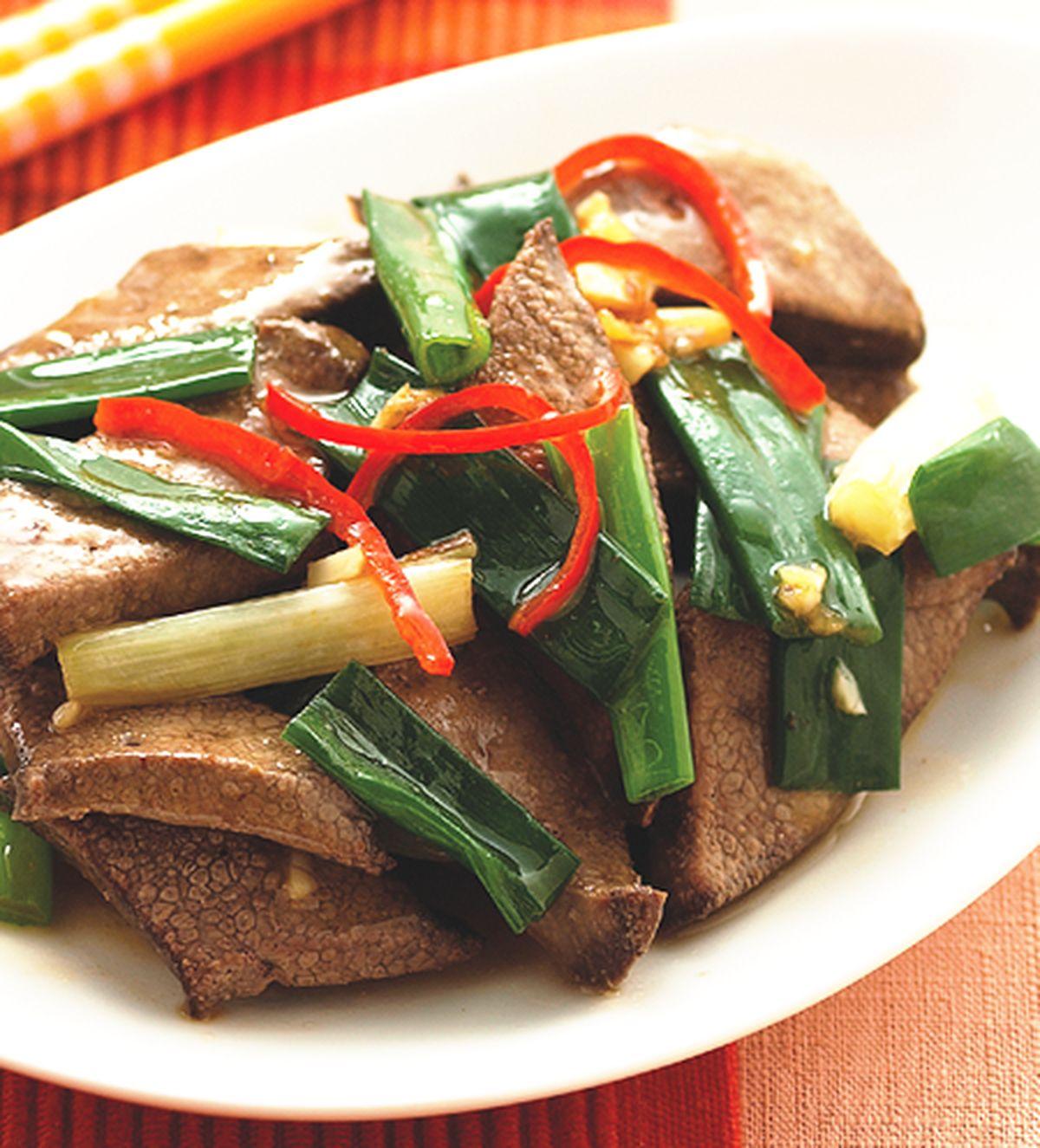 食譜:蔥爆豬肝(1)