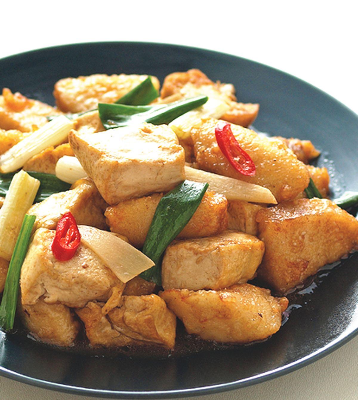 食譜:魚燒豆腐