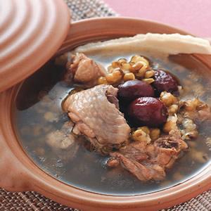 綠豆伏苓燉雞湯