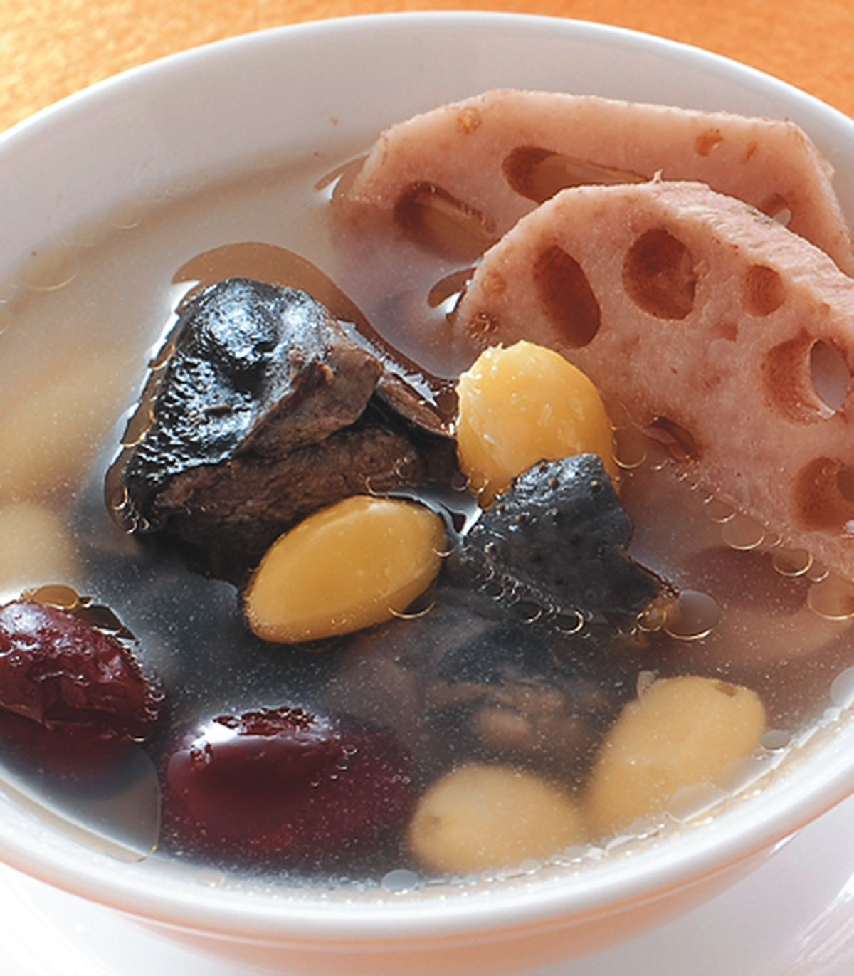 食譜:蓮藕紅棗白果雞湯