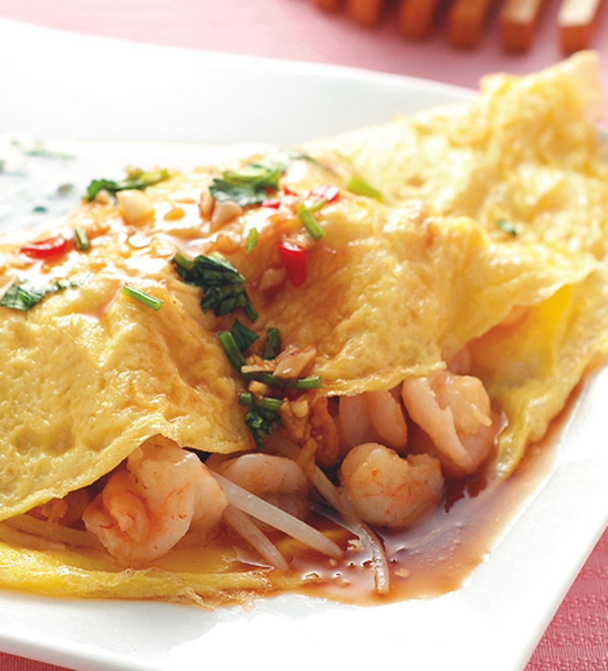 食譜:蝦仁豆芽蛋捲