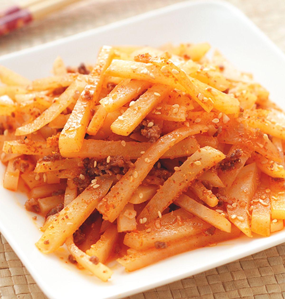 食譜:韓國風味炒洋芋絲