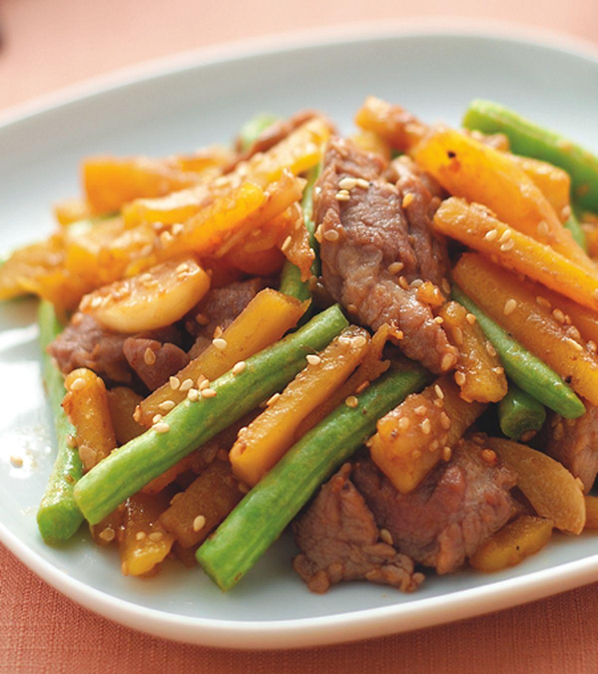 食譜:芝麻地瓜燒梅肉