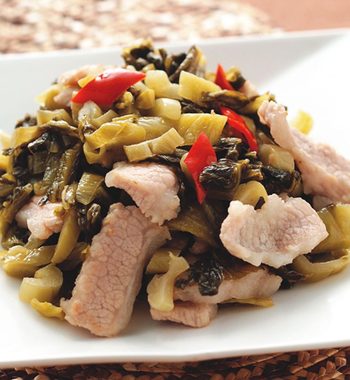 食譜:酸菜炒肉片