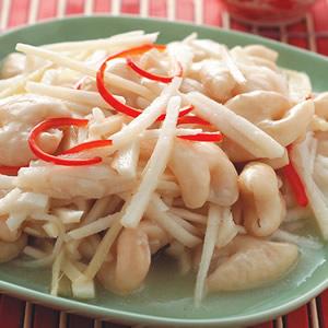 酸筍絲炒薑絲大腸
