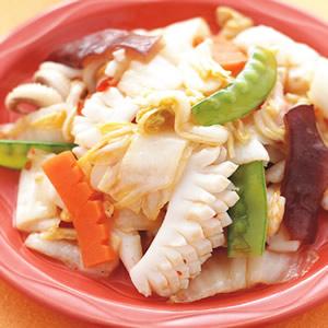 酸白菜炒花枝