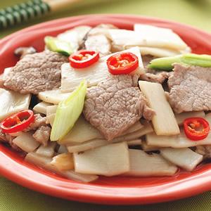 脆筍炒肉片