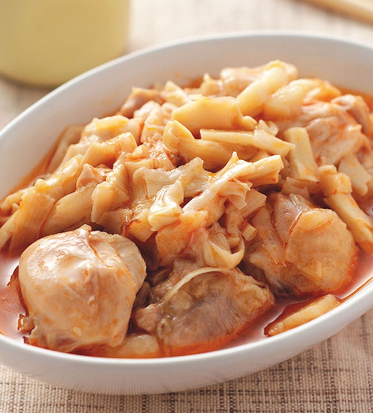 食譜:紅油筍絲蒸雞丁