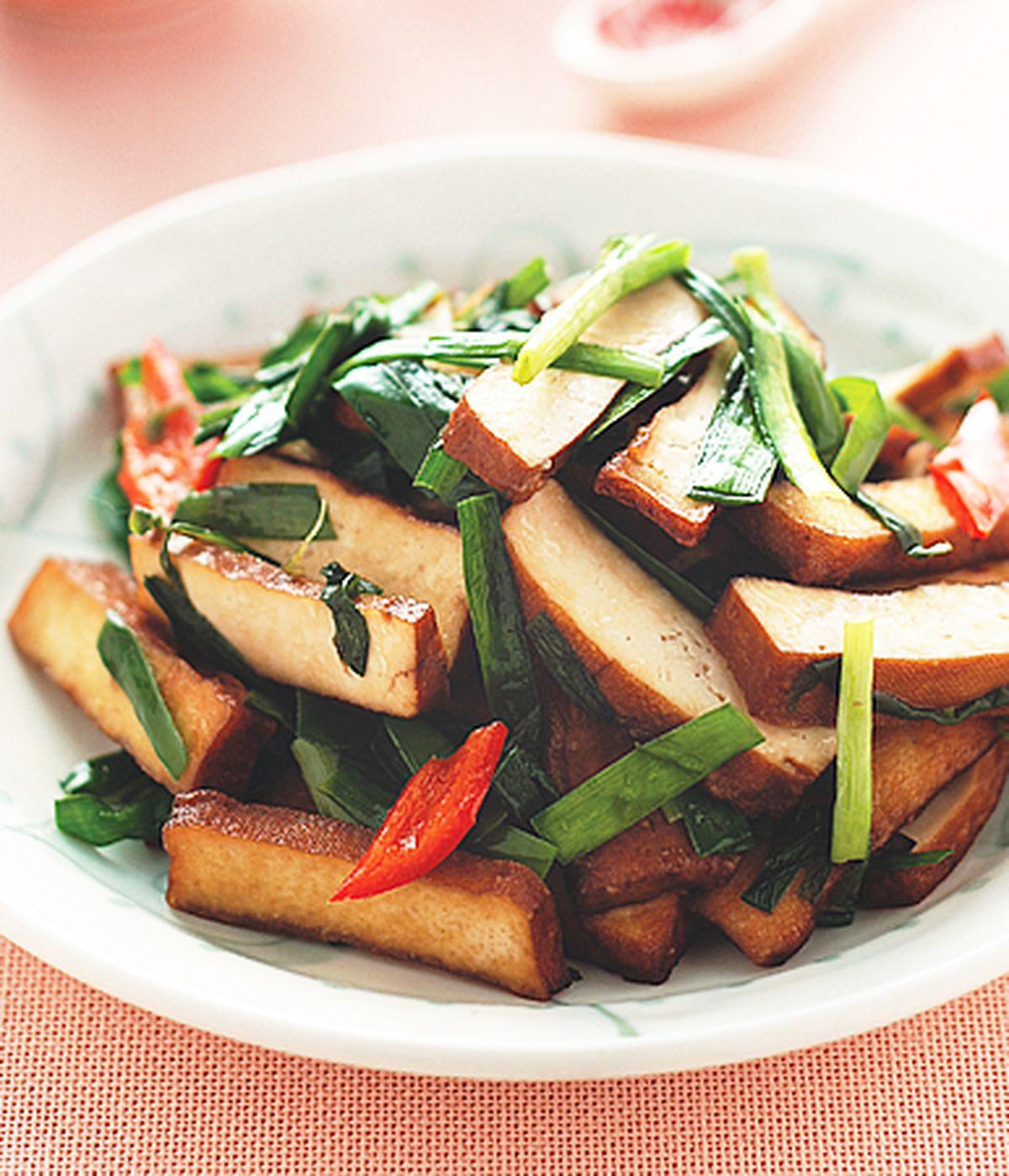 食譜:豆乾炒韭菜