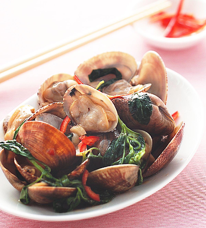 食譜:塔香海瓜子(1)