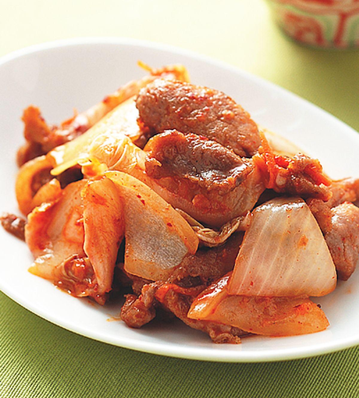 食譜:泡菜肉片