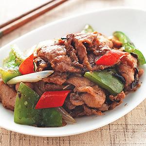 豆豉炒肉片
