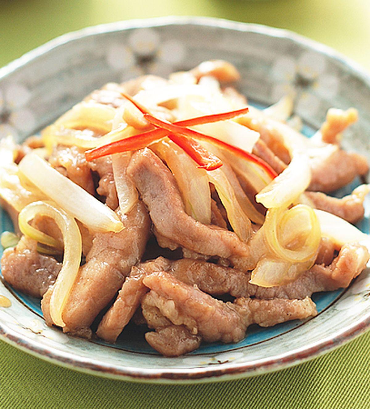 食譜:洋蔥炒肉絲
