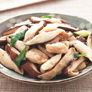 香菇炒雞柳
