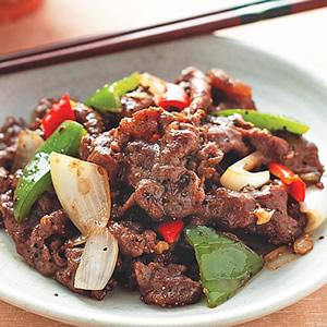 黑椒青椒牛肉
