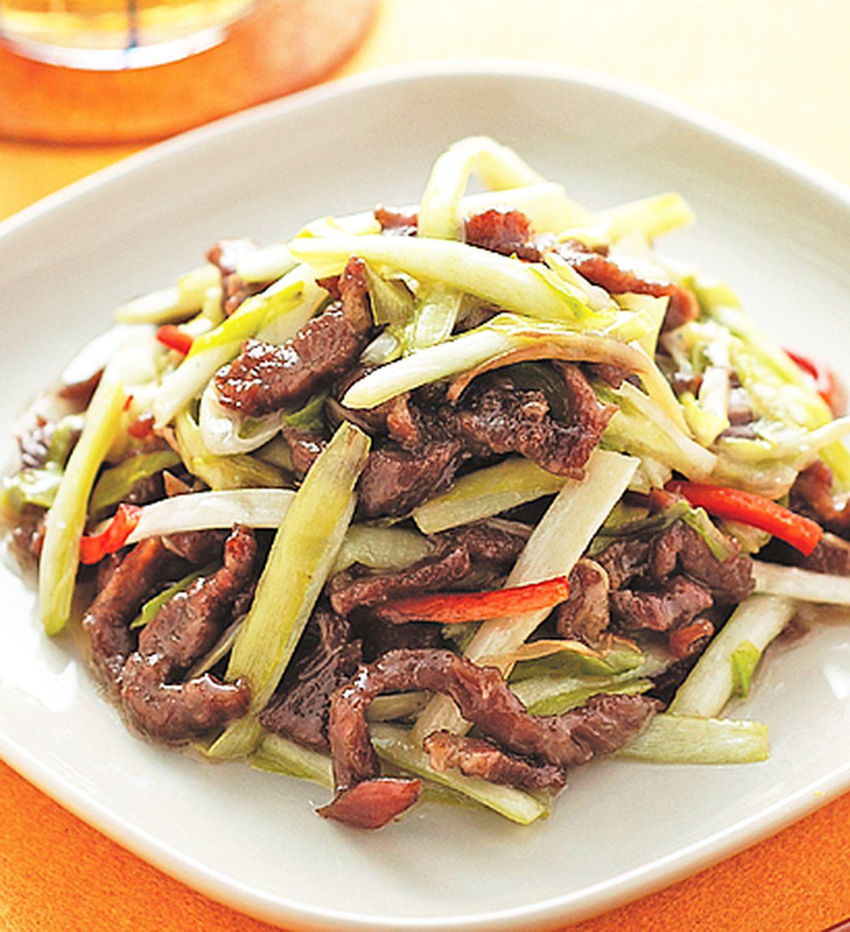 食譜:韭黃牛肉絲(1)
