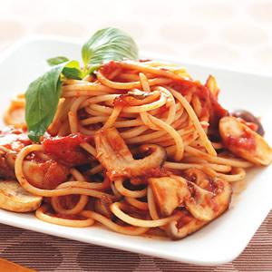 蕃茄野菇義大利麵