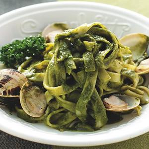 蛤蜊青醬寬麵