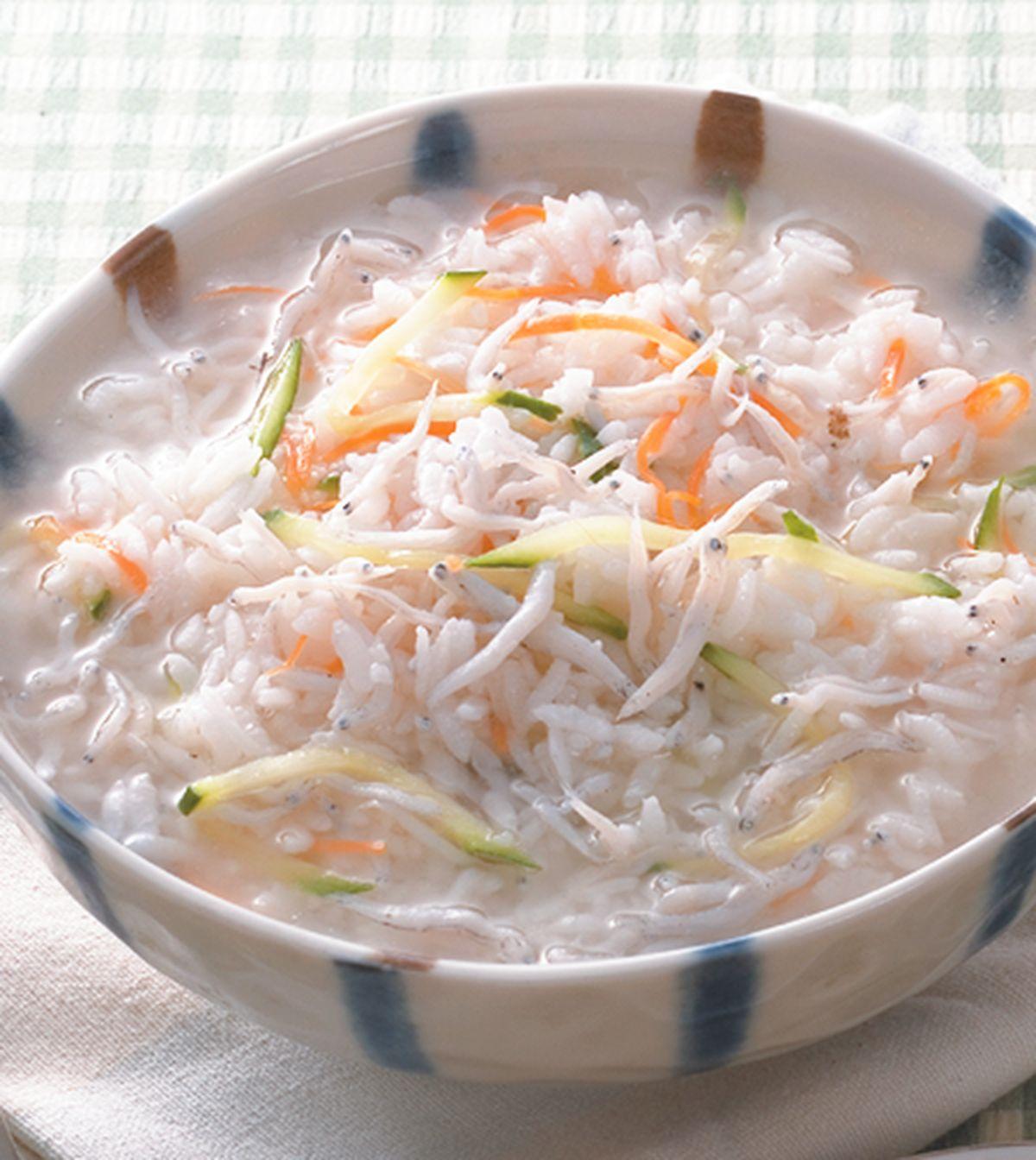 食譜:吻仔魚粥(2)