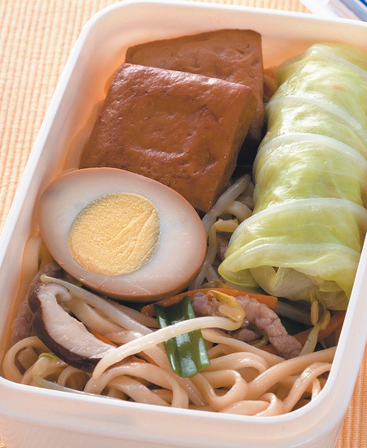 食譜:肉絲炒麵餐盒