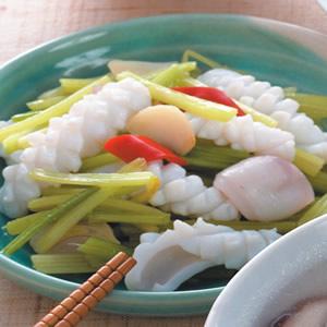 芹菜炒中卷